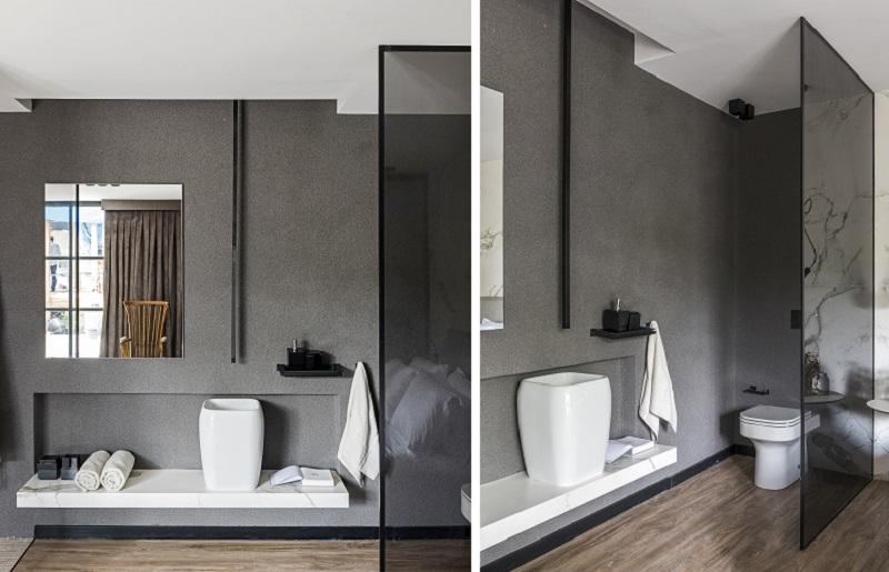 Decoração de banheiro sóbrio