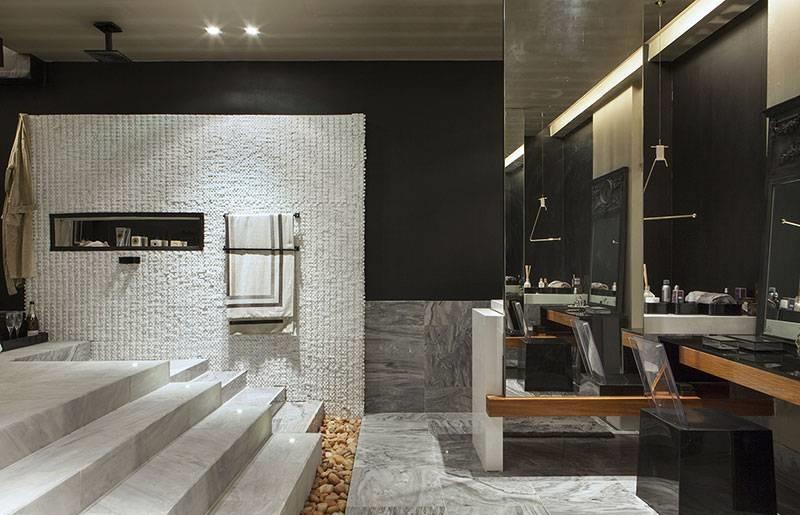 Decoração de banheiro preto