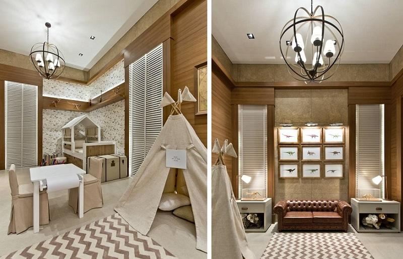 Decoração de quarto infantil com madeira