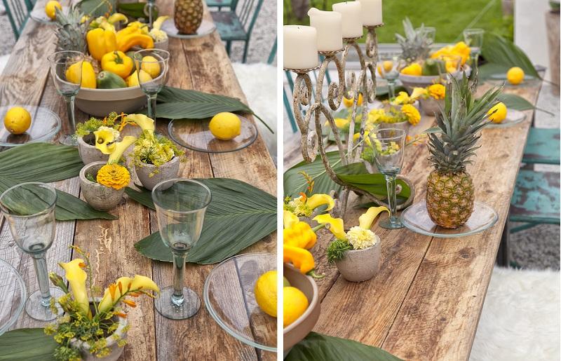 Mesa em estilo tropical