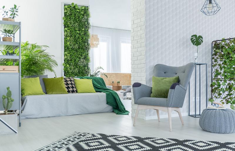 Jardins verticais para sala