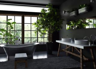 Acerte na decoração de um banheiro preto