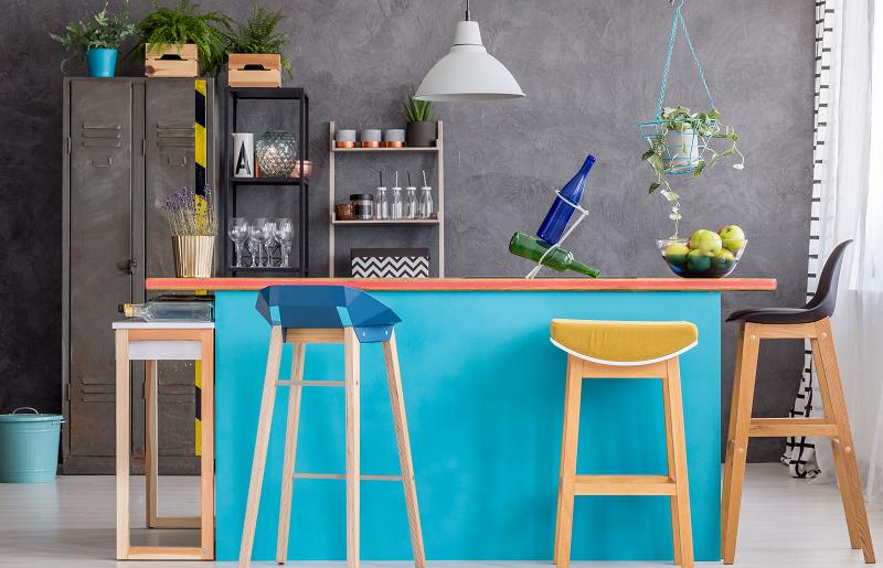 Color block na cozinha