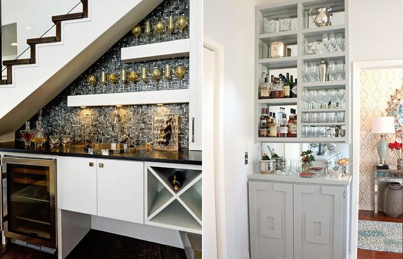 Não se esqueça da praticidade quando decorar o mini bar