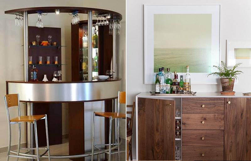Reconheça seu espaço para fazer o mini bar