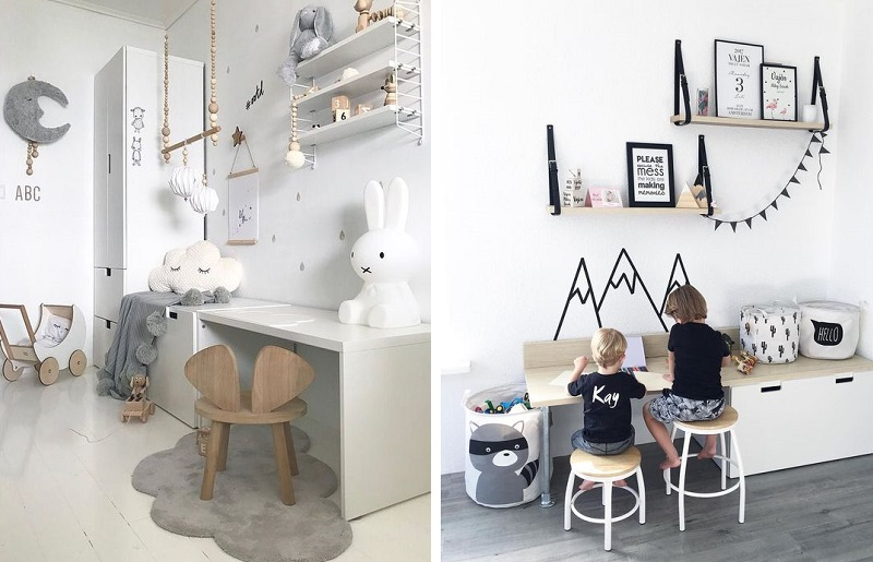 Como organizar quarto infantil - cantinho de estudo