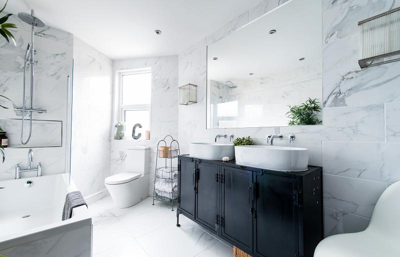 Apartamento decorado - banheiro