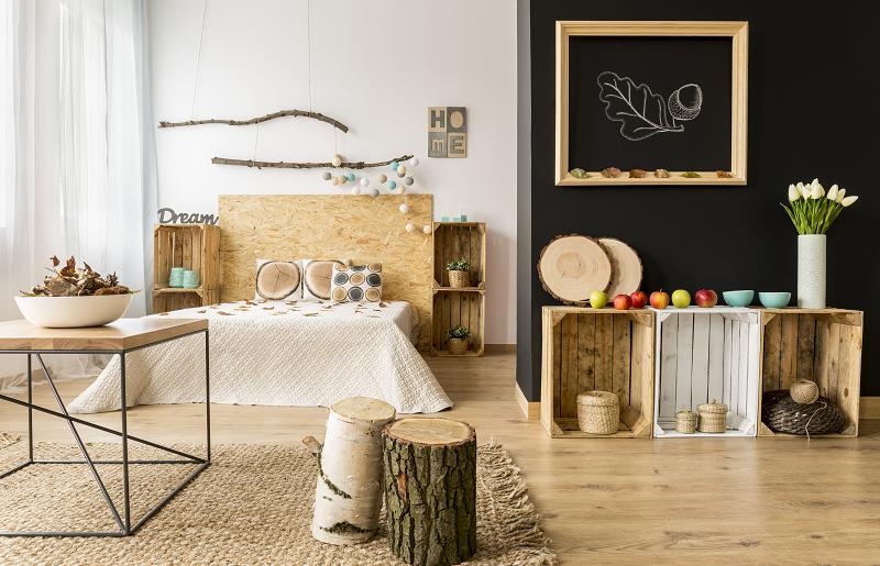 Tapete para quarto: estética e textura