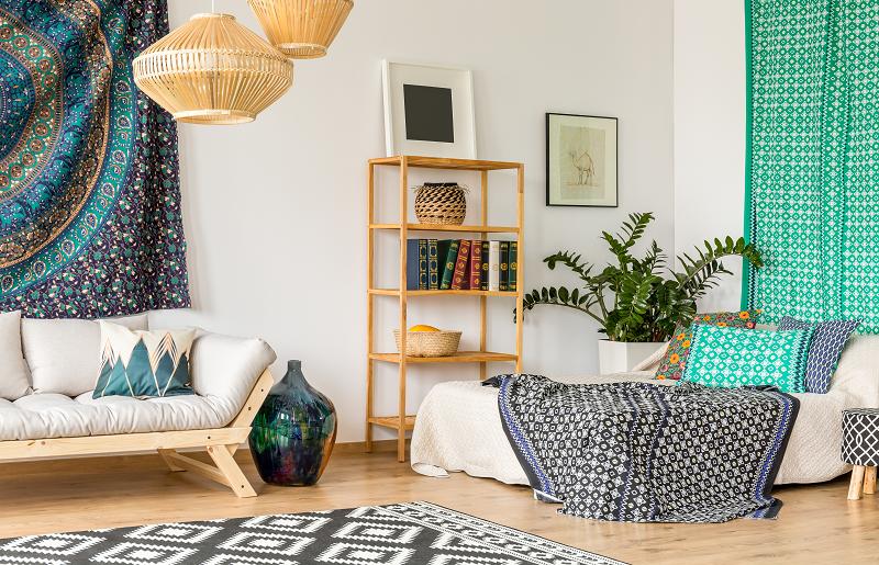 Tapete para quarto: tamanho e estilo