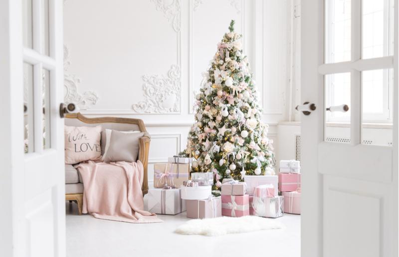 Enfeites de natal: árvore decorada