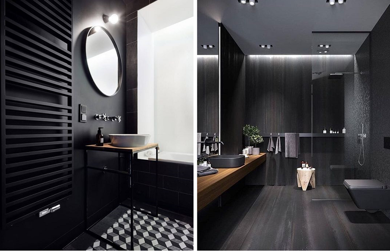 Banheiros modernos - preto