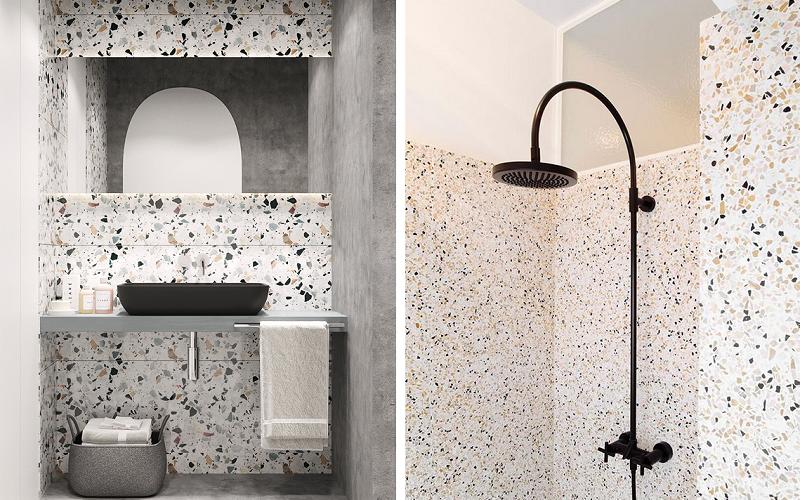 Banheiros modernos - marmorite e granilite