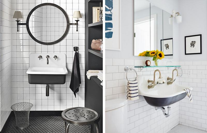 Banheiros modernos - pias industriais