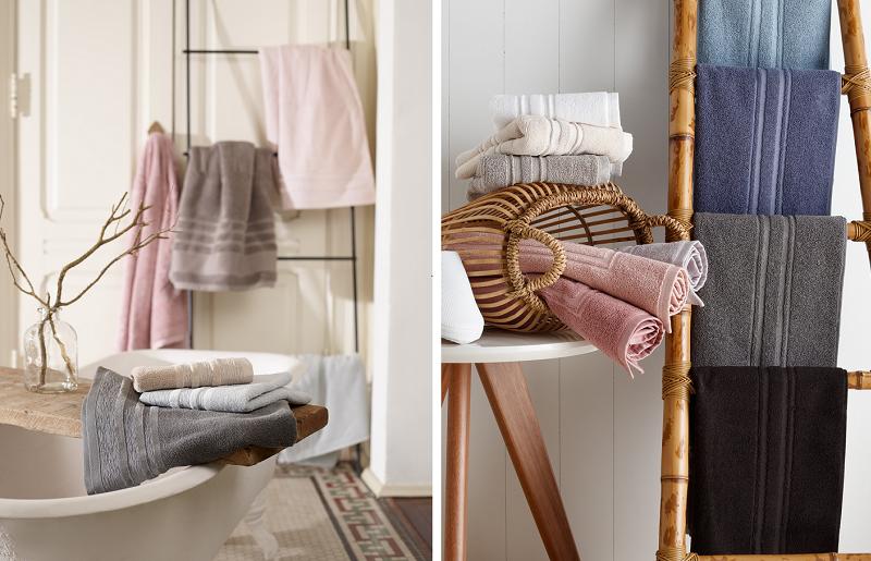 Banheiros modernos - toalhas