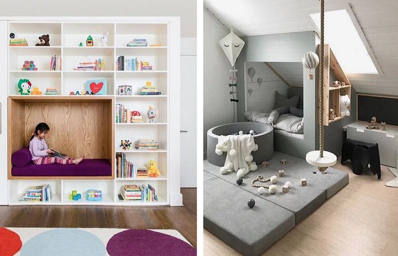 Quarto infantil pequeno - móveis