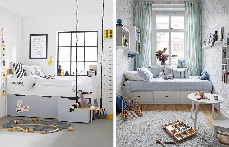 Quarto infantil pequeno - cama