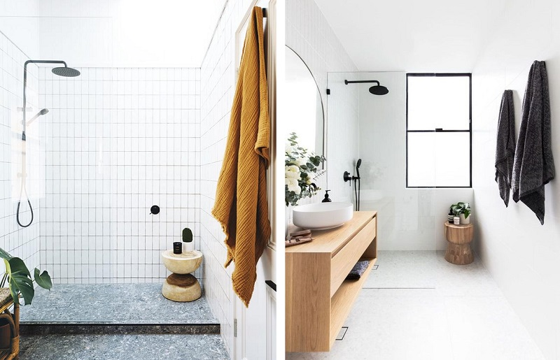 Banheiro branco - ponto de cor