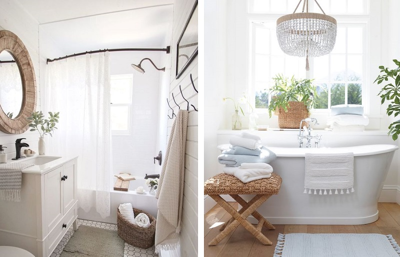 Banheiro branco - natural
