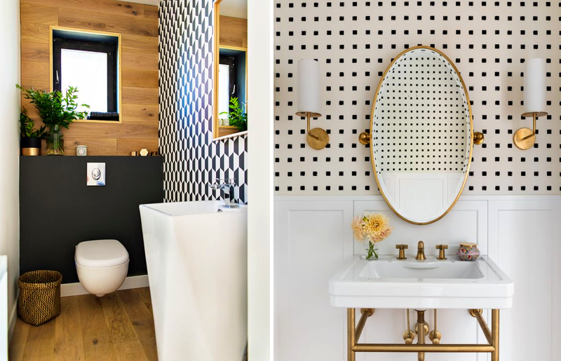 lavabo-papel-de-parede-decoração-tendência-lavabo-estilo