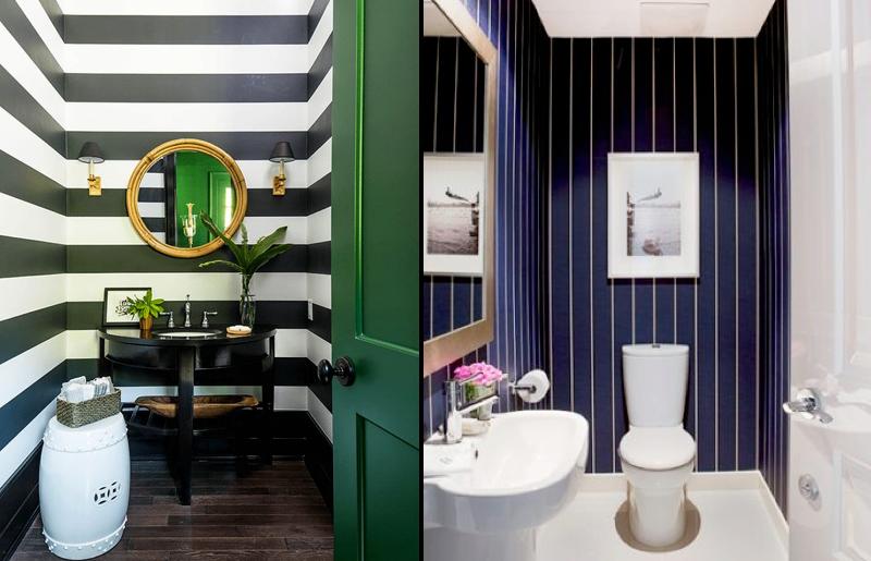 listras-geometrico-lavabo-papel-de-parede-decoração-tendência-lavabo-estilo