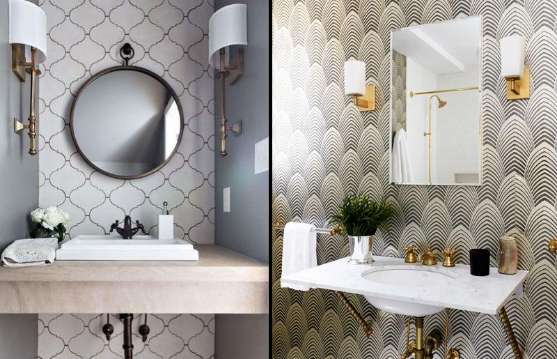 clássico-lavabo-papel-de-parede-decoração-tendência-lavabo-estilo