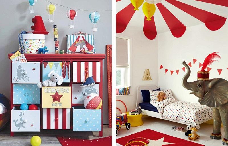 Temas para quarto de bebê - circo