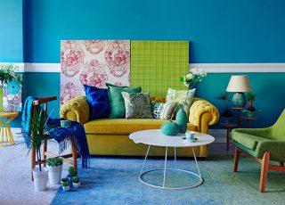 Azul turquesa sala