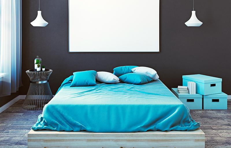 azul turquesa quarto