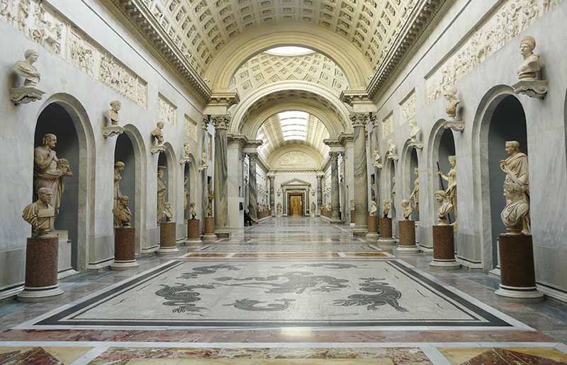 Gallery at the Vatican Museum